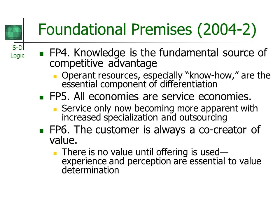 Foundational Premises (2004-2)