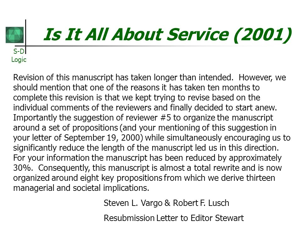 Is It All About Service (2001)