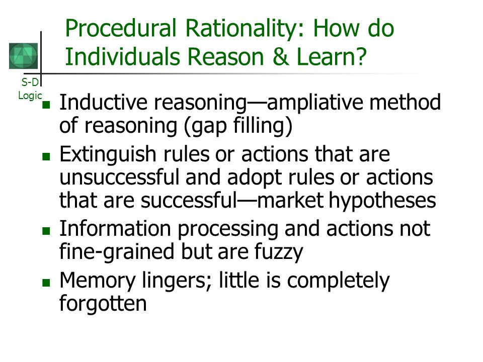 Procedural Rationality: How do Individuals Reason & Learn
