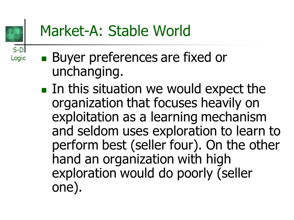 Market-A: Stable World