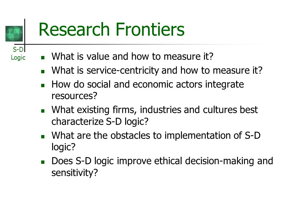 Research Frontiers What is value and how to measure it