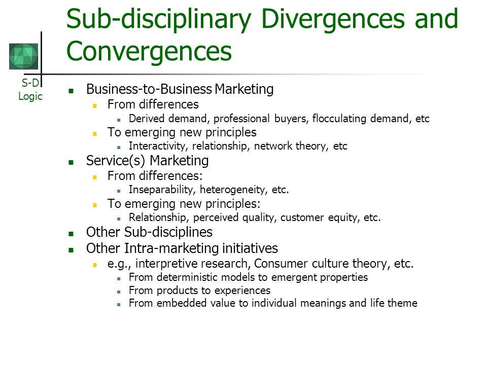 Sub-disciplinary Divergences and Convergences
