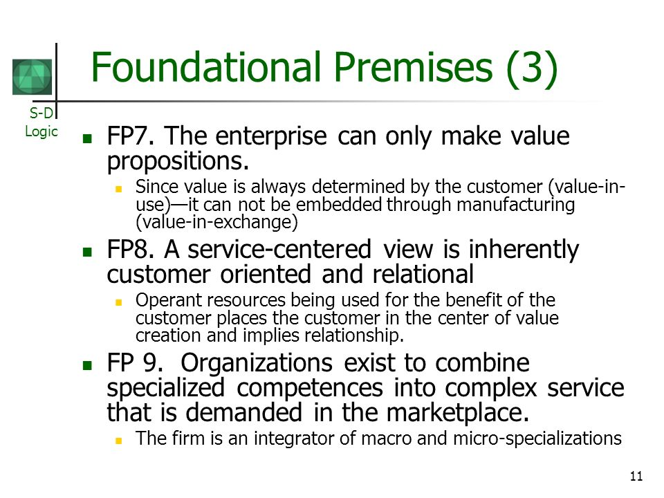 Foundational Premises (3)