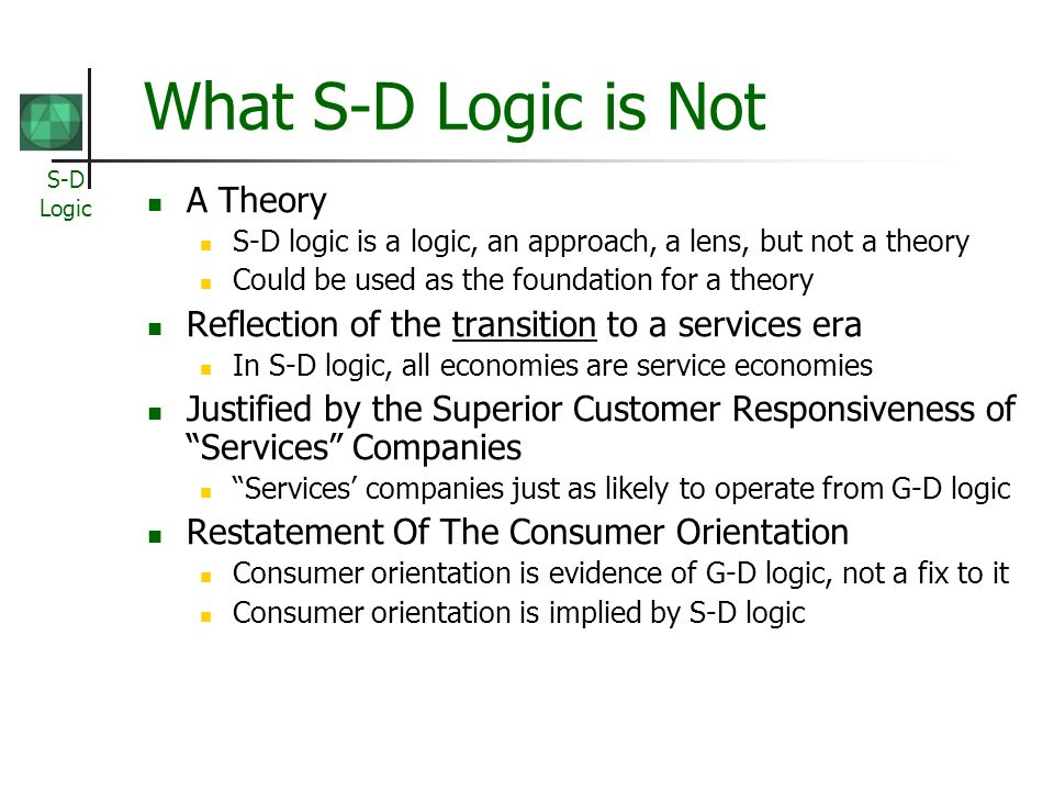 What S-D Logic is Not A Theory