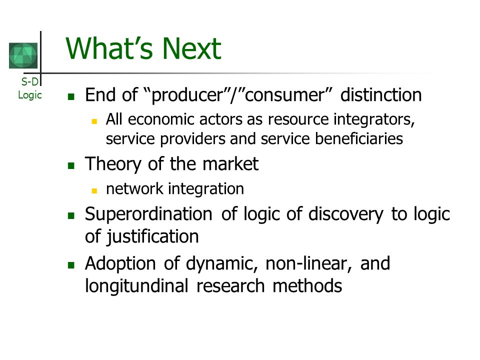 What's Next End of producer / consumer distinction