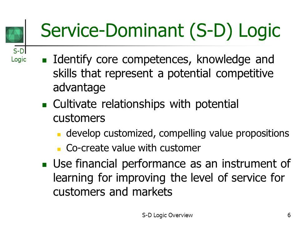 Service-Dominant (S-D) Logic
