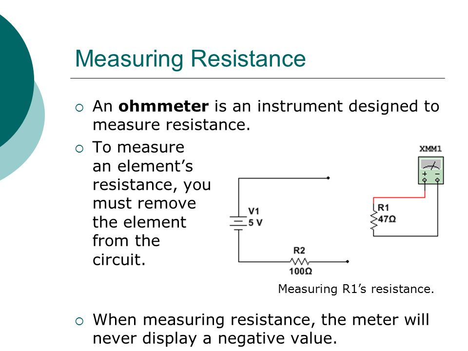 Finding Resistance In Circuit Ohmmeter : Circuit analysis professor nick reeder ppt video online