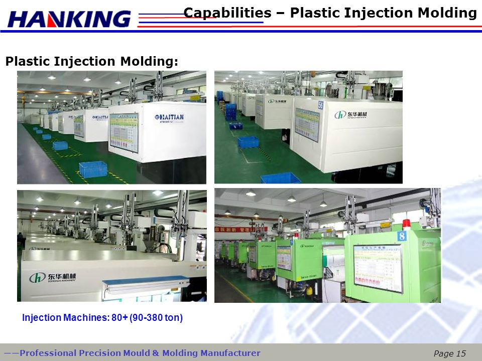 Capabilities – Plastic Injection Molding