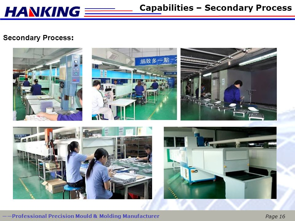 Capabilities – Secondary Process