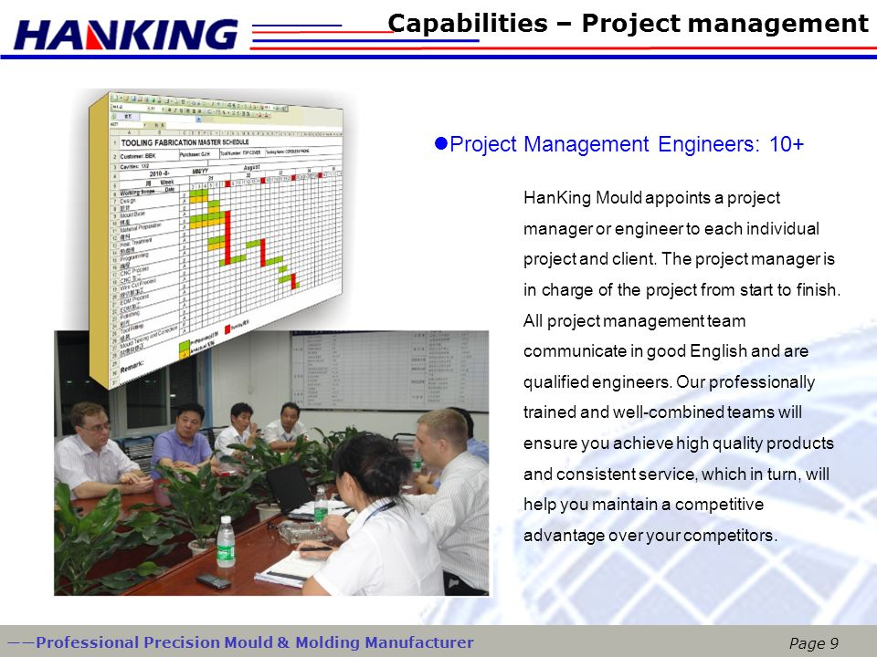 Capabilities – Project management