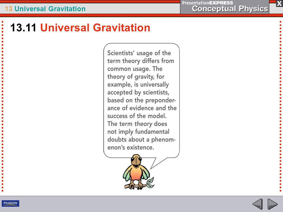 13.11 Universal Gravitation