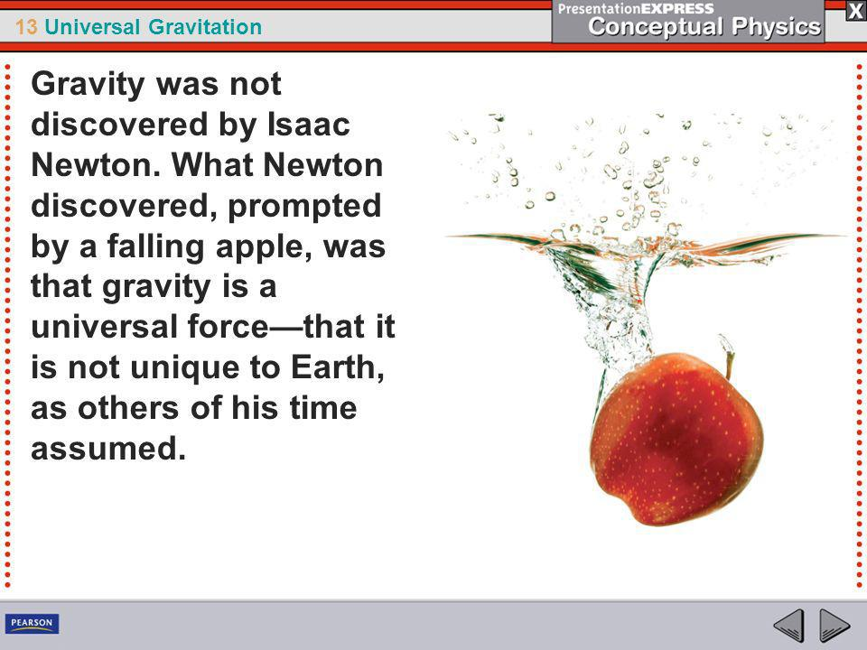 Gravity was not discovered by Isaac Newton