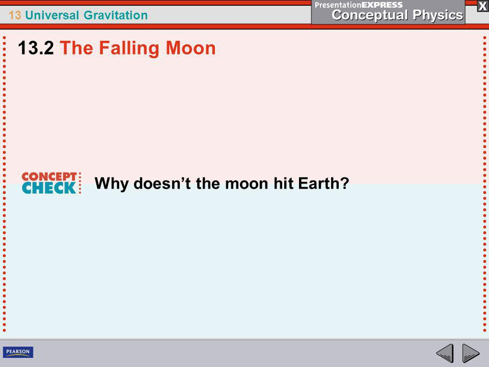 13.2 The Falling Moon Why doesn't the moon hit Earth
