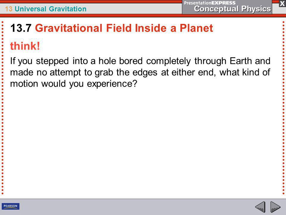 13.7 Gravitational Field Inside a Planet