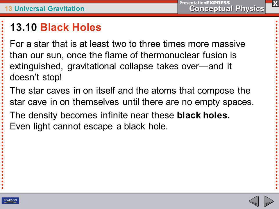 13.10 Black Holes