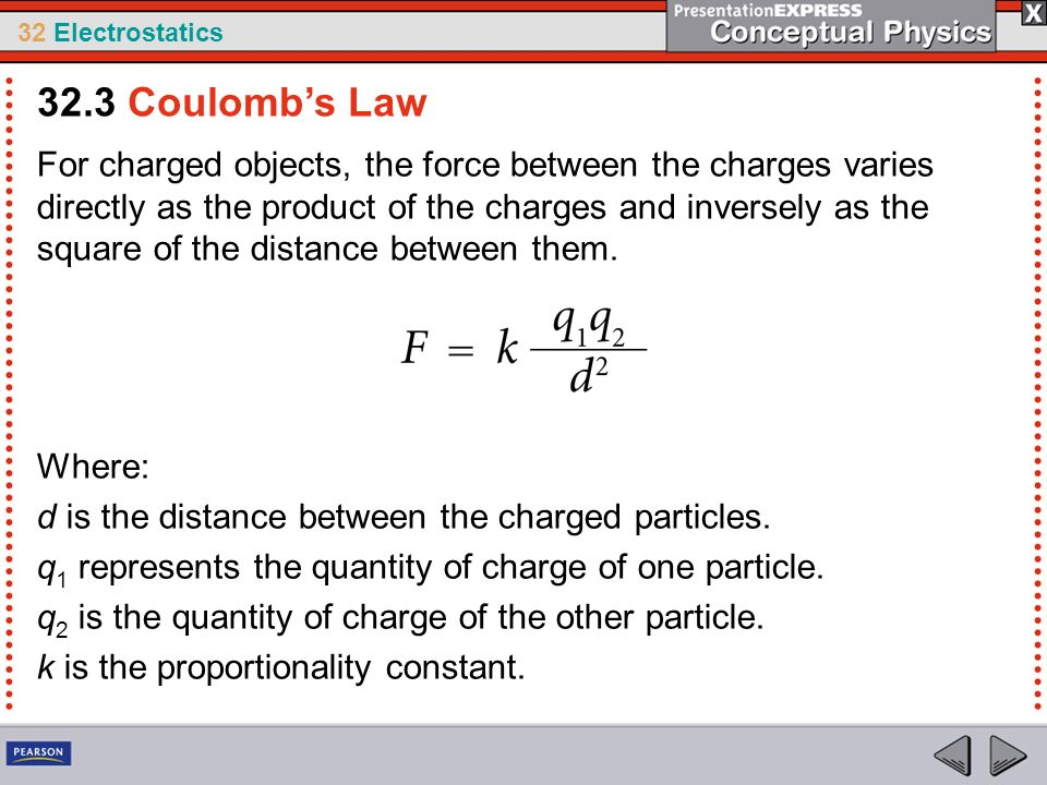 32.3 Coulomb's Law