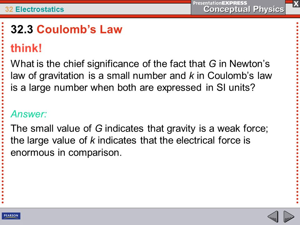 32.3 Coulomb's Law think!