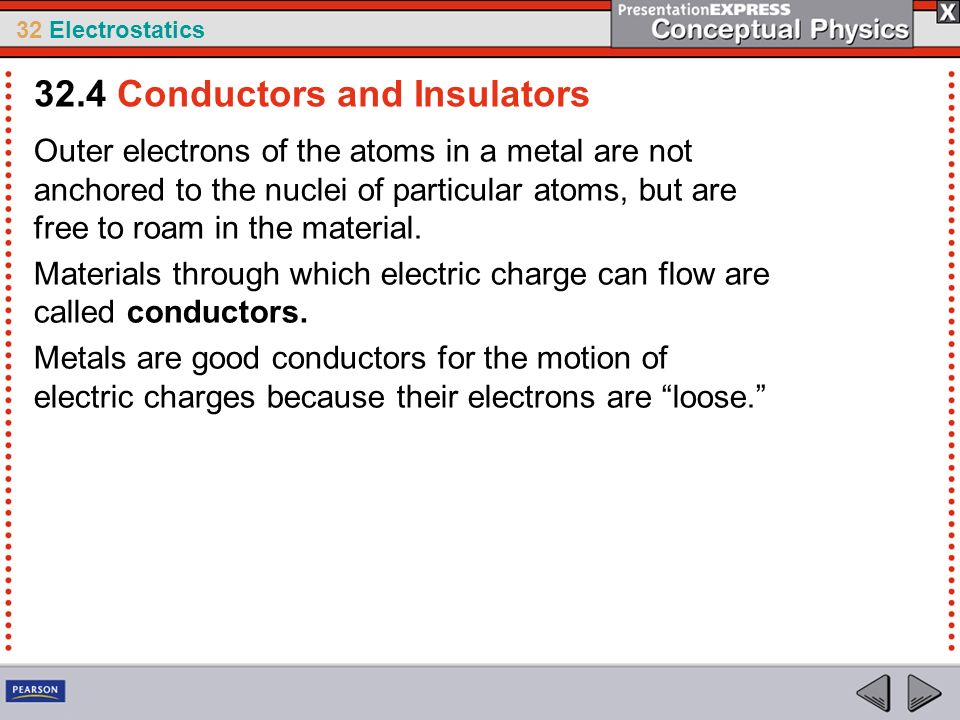 32.4 Conductors and Insulators