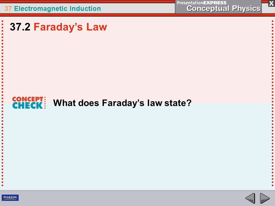 37.2 Faraday's Law What does Faraday's law state