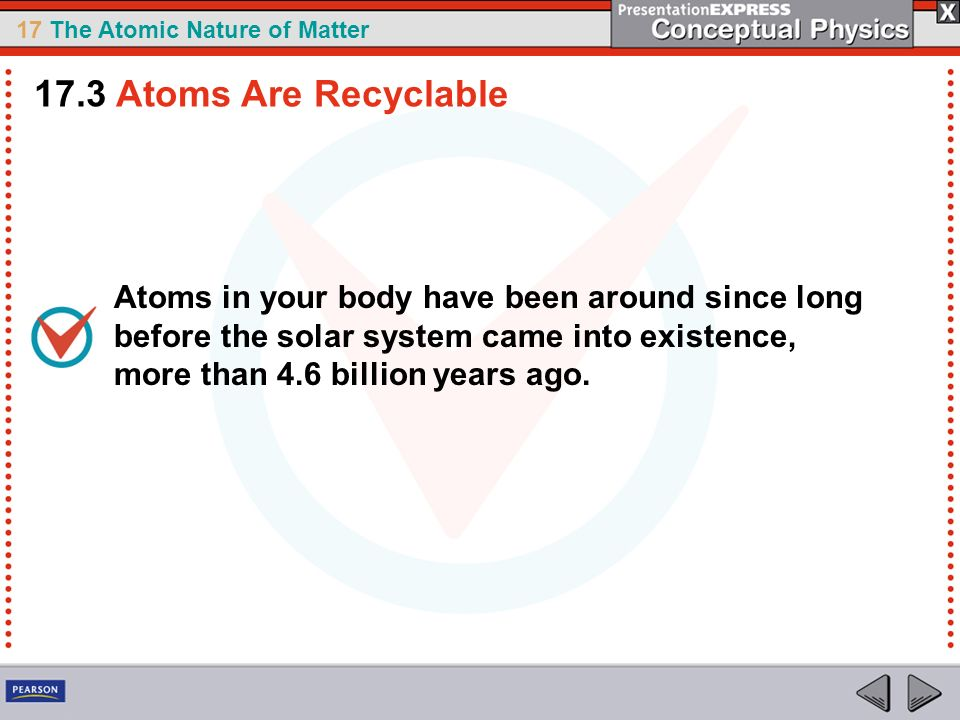 17.3 Atoms Are Recyclable