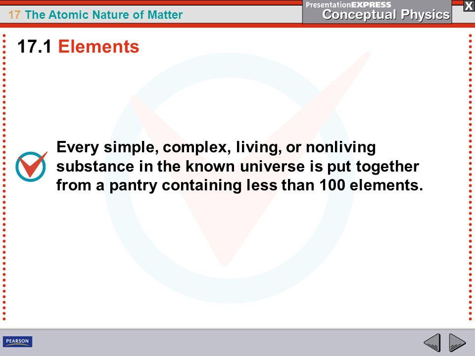 17.1 Elements