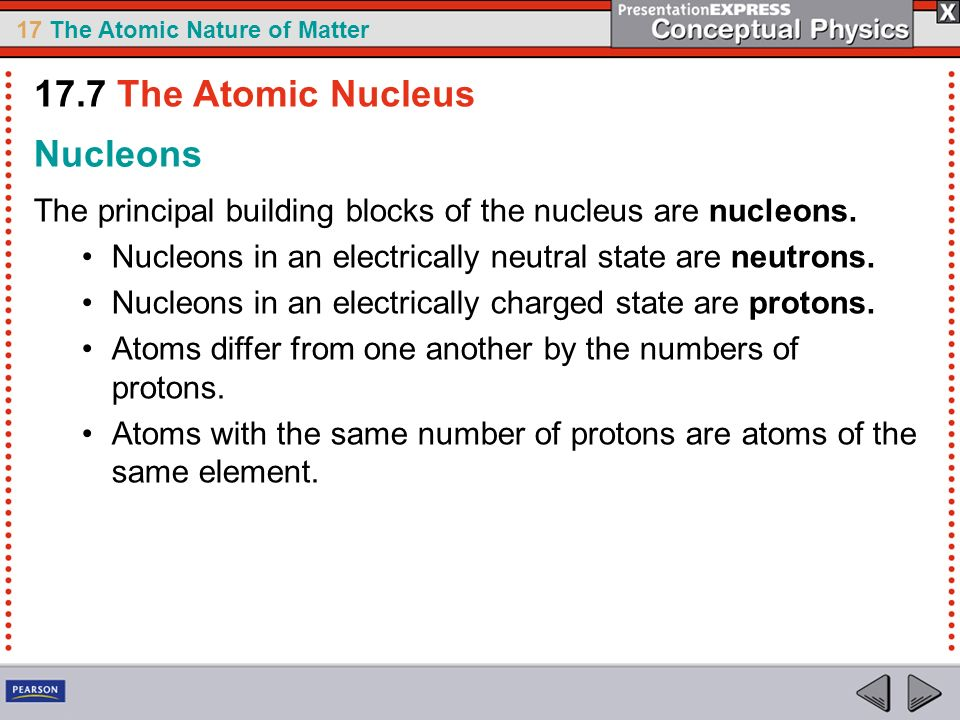 17.7 The Atomic Nucleus Nucleons
