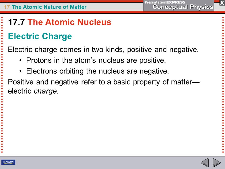 17.7 The Atomic Nucleus Electric Charge