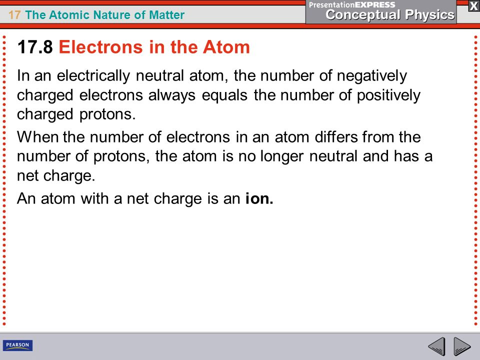 17.8 Electrons in the Atom
