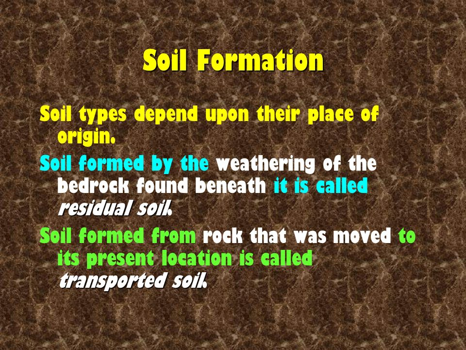 Surface processes and landscapes ppt video online download for What is the origin of soil