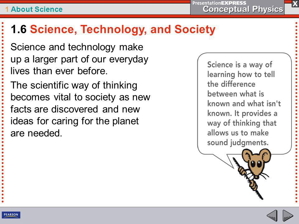 1.6 Science, Technology, and Society