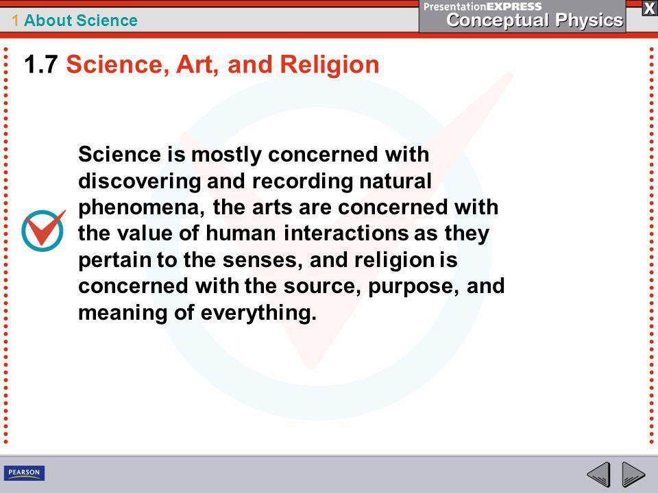 1.7 Science, Art, and Religion