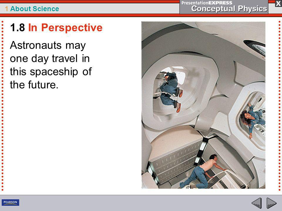 1.8 In Perspective Astronauts may one day travel in this spaceship of the future.