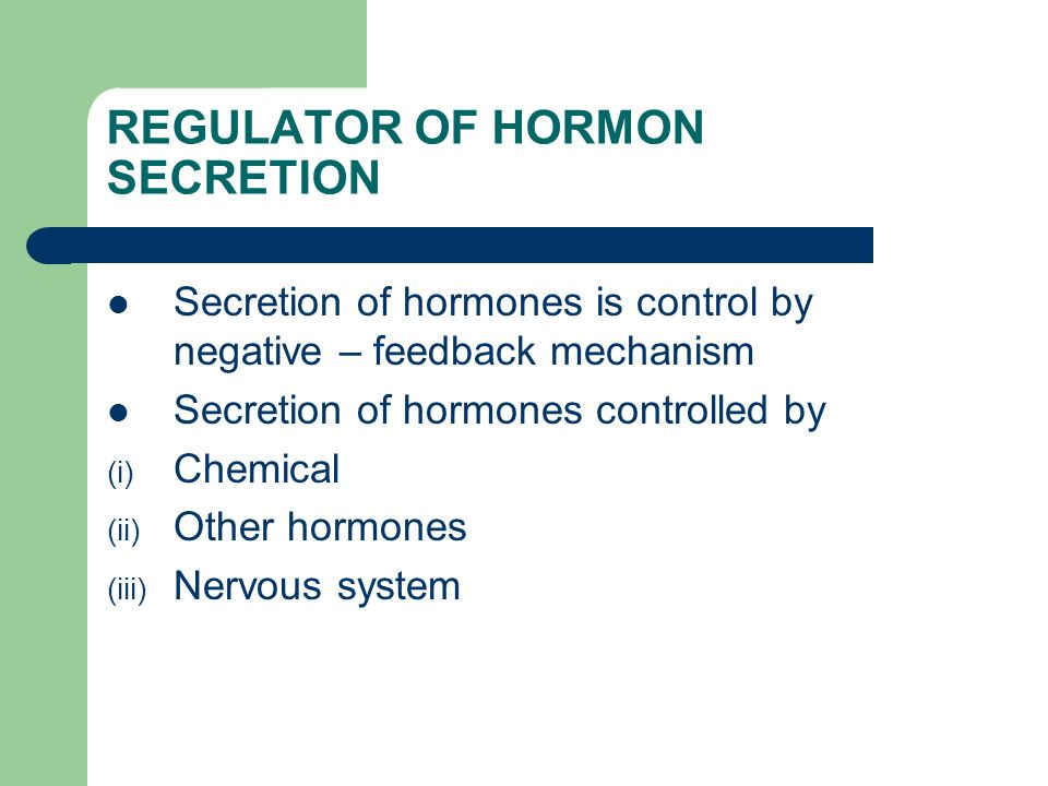 REGULATOR OF HORMON SECRETION