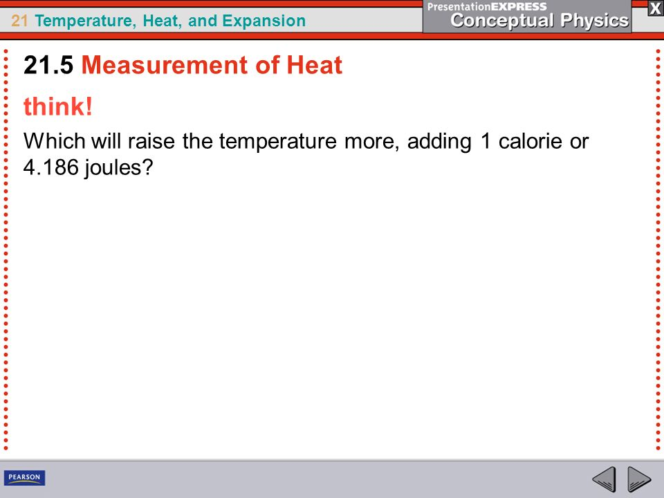 21.5 Measurement of Heat think!
