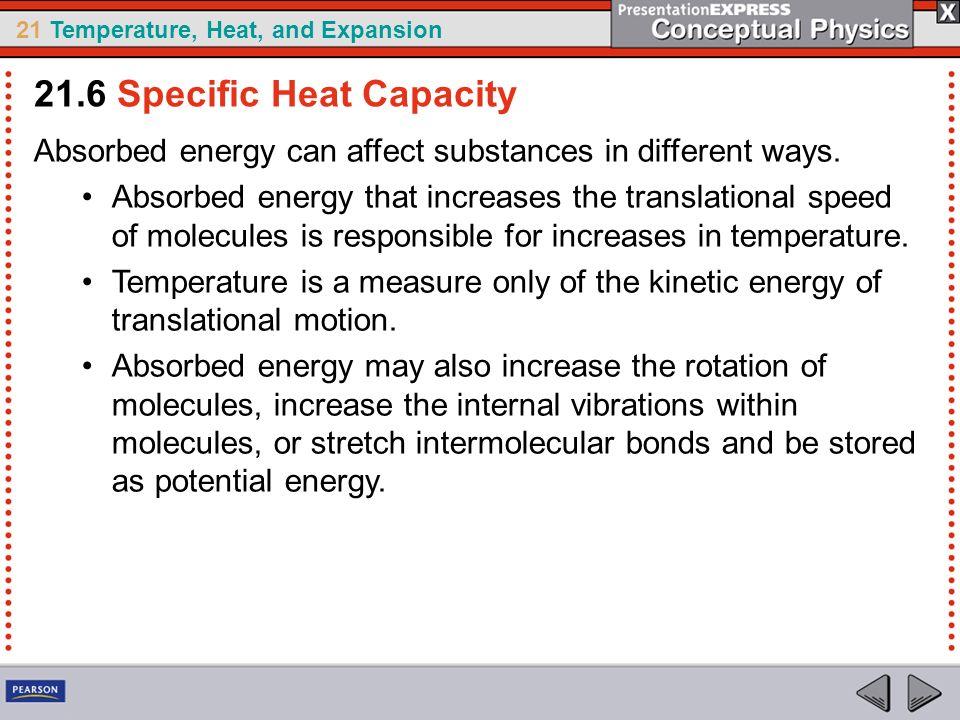 21.6 Specific Heat Capacity