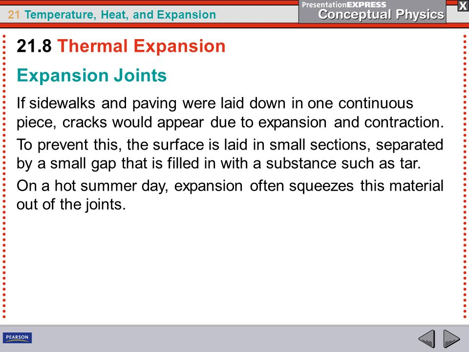 21.8 Thermal Expansion Expansion Joints