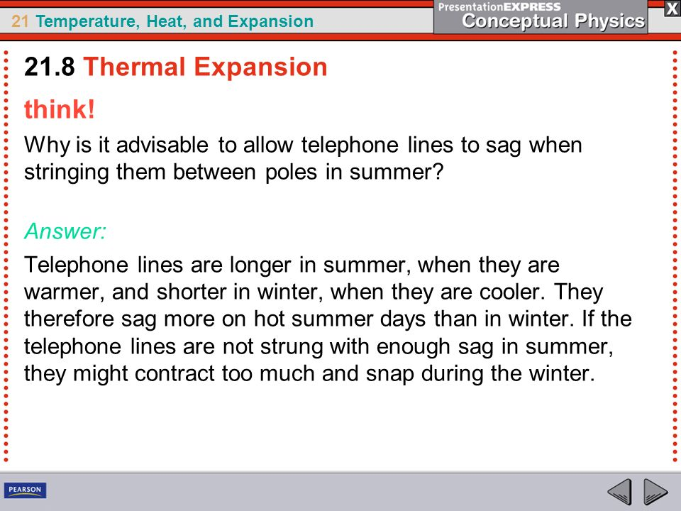21.8 Thermal Expansion think!