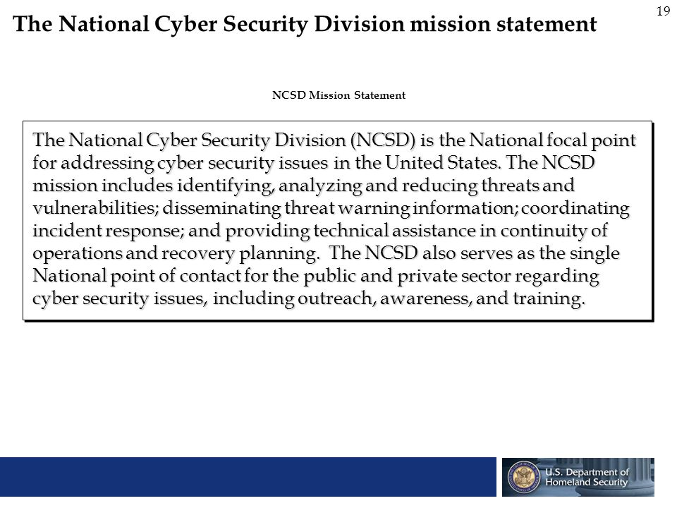 NCSD Mission Statement