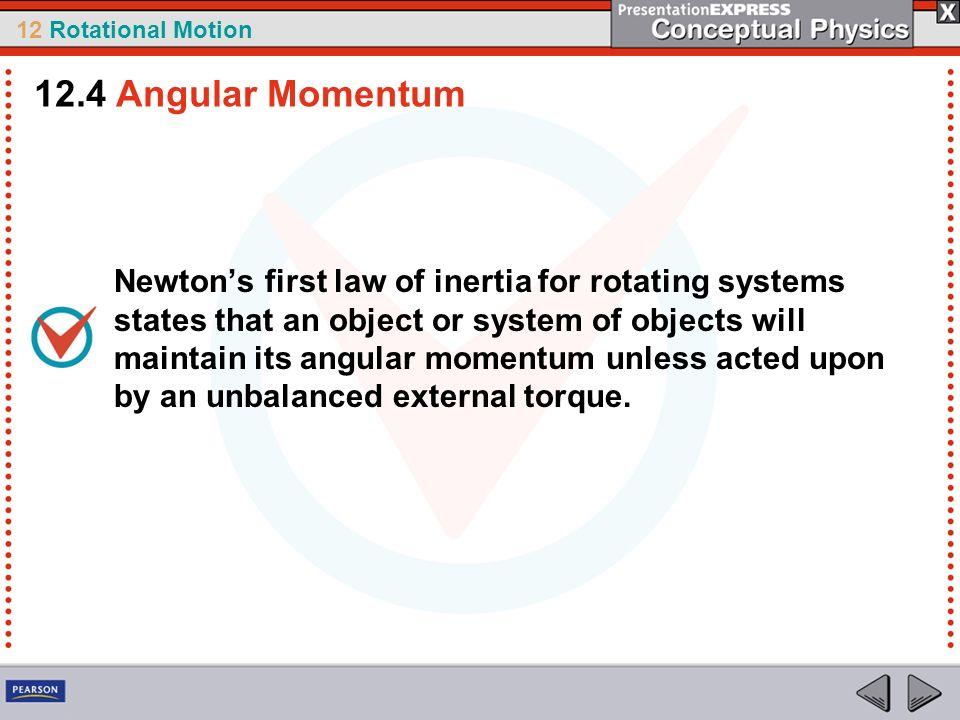 12.4 Angular Momentum