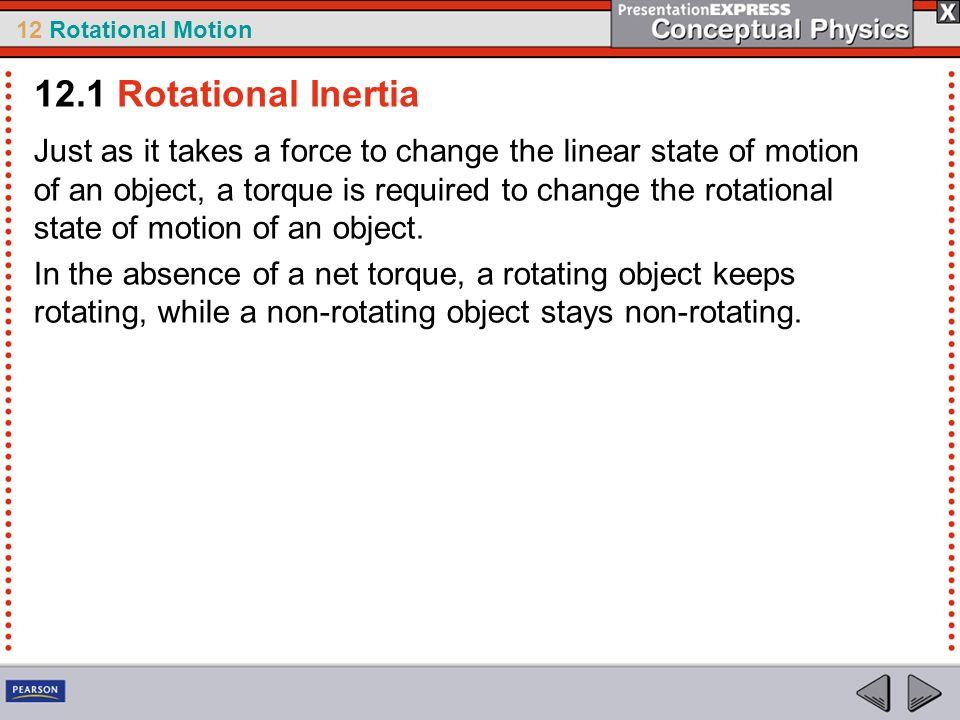 12.1 Rotational Inertia