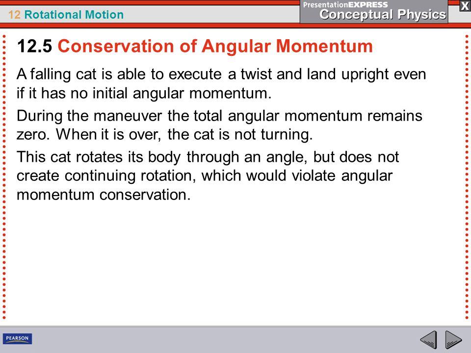 12.5 Conservation of Angular Momentum