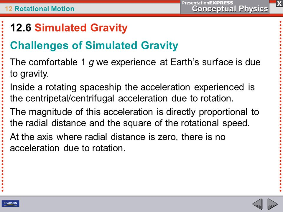 Challenges of Simulated Gravity