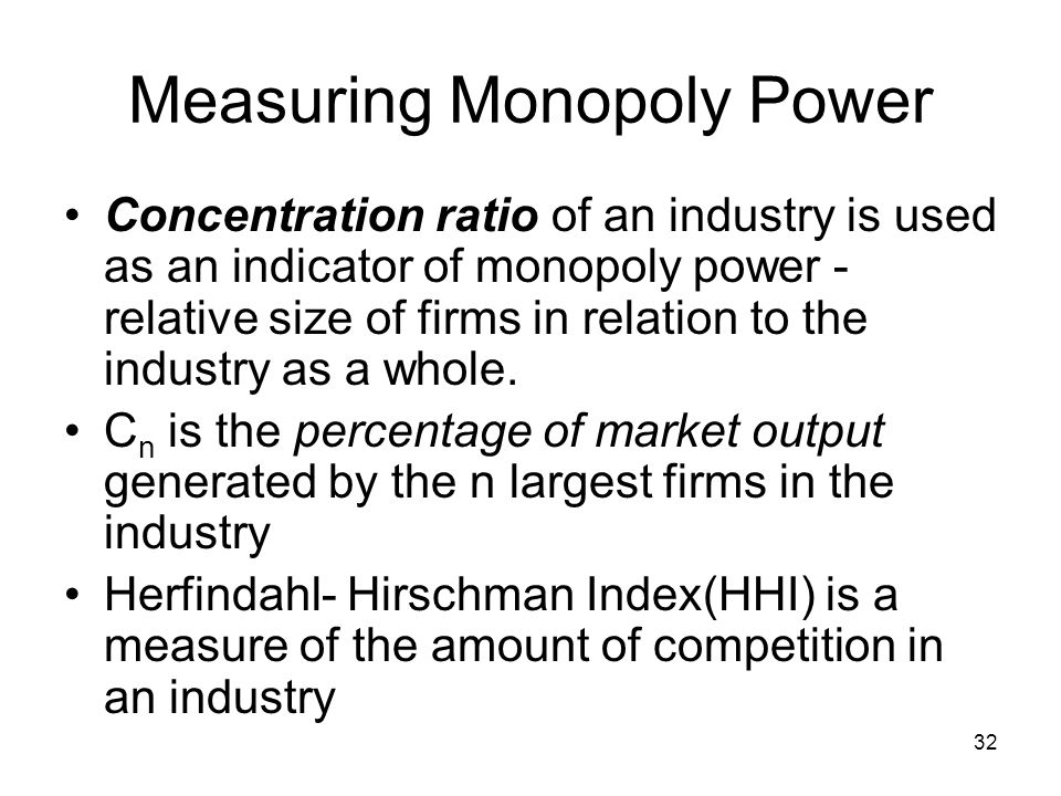 the power of monopoly in the computer industry Evidence of monopolies can be seen throughout the history of the computer industry and the  one way that a company can become a monopoly is to control an.