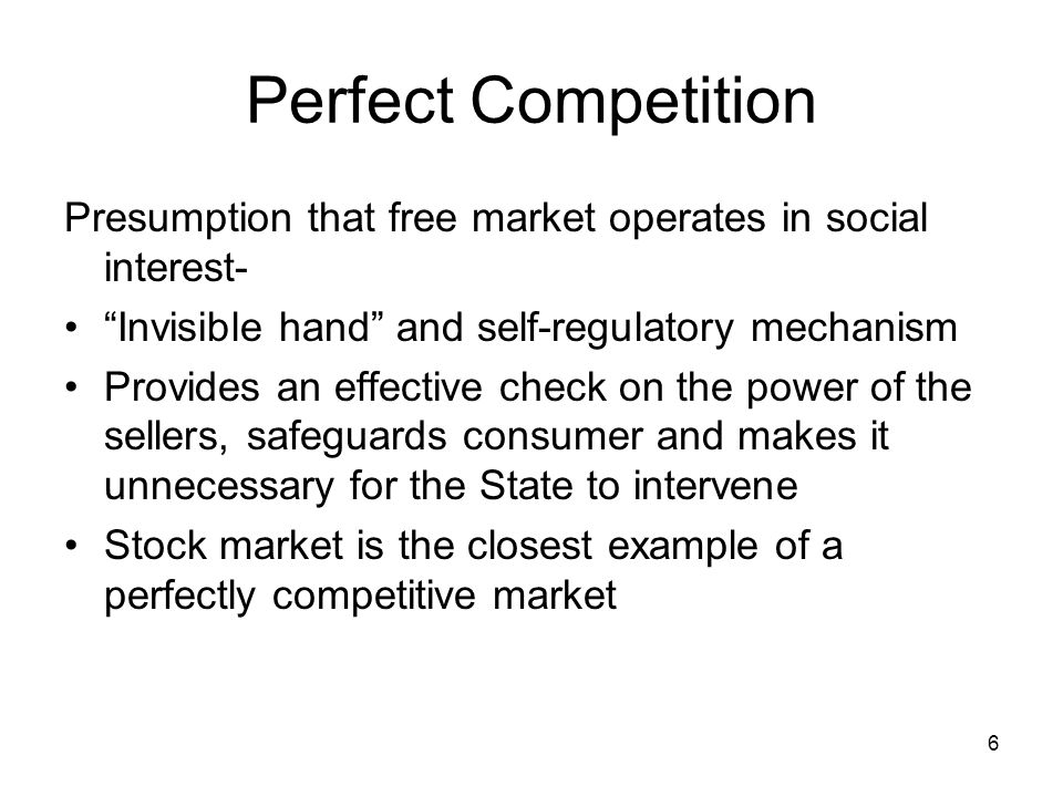 perfect competition and the public interest Market structure: oligopoly (imperfect competition)  this is because, like perfect competition, firms can freely enter and exit the industry.