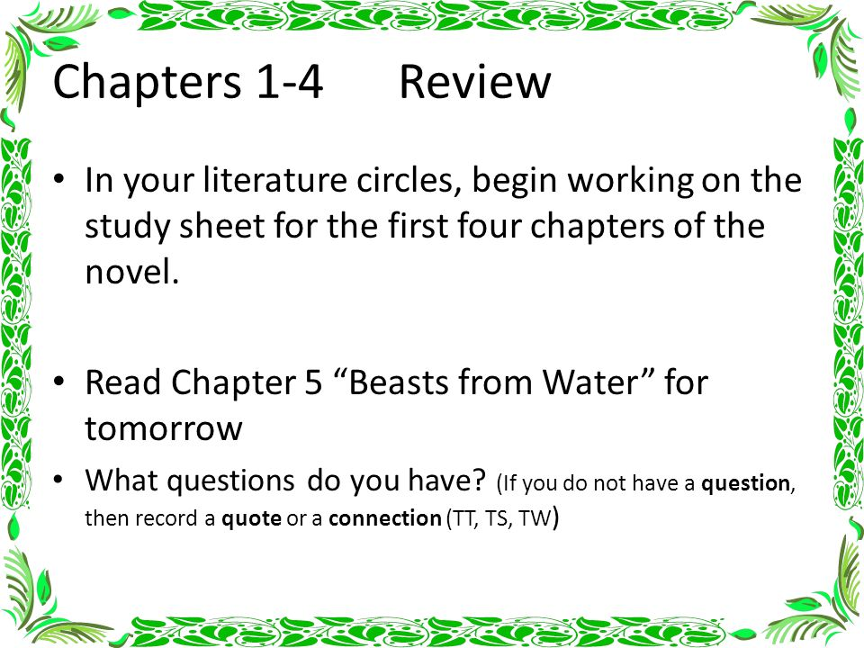 notes for each chapter in tomorrow Lord of the flies chapter 12 summary & analysis from litcharts | the creators of sparknotes  litcharts assigns a color and icon to each theme in  him the tribe.
