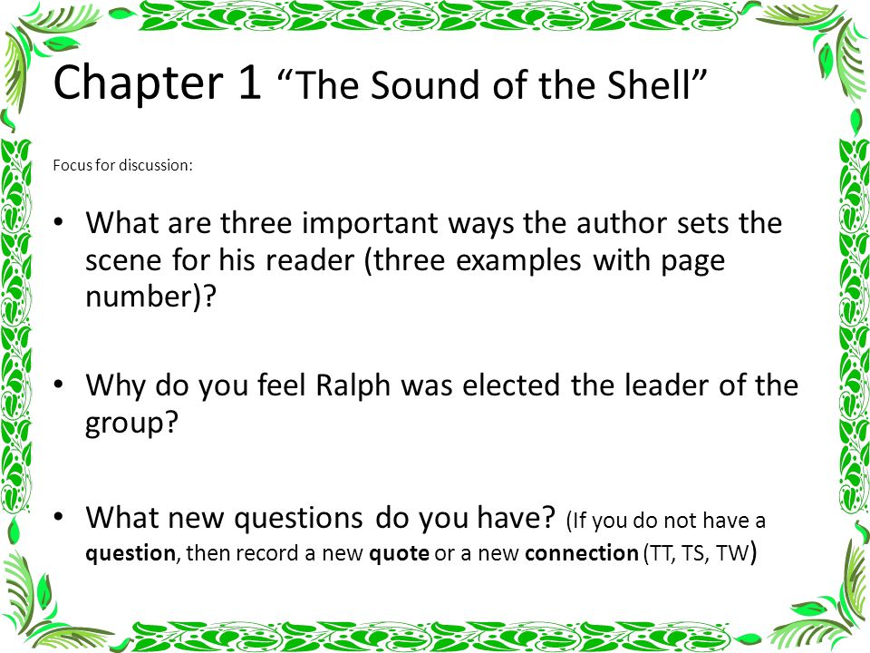 Lord of the Flies - Chapter 1, The Sound of the Shell Summary & Analysis