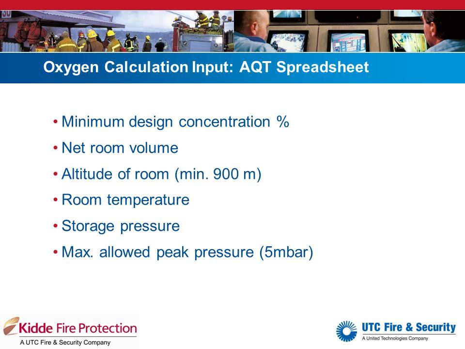 Argonite fire extinguishing system ppt video online download for Cold room design calculations xls