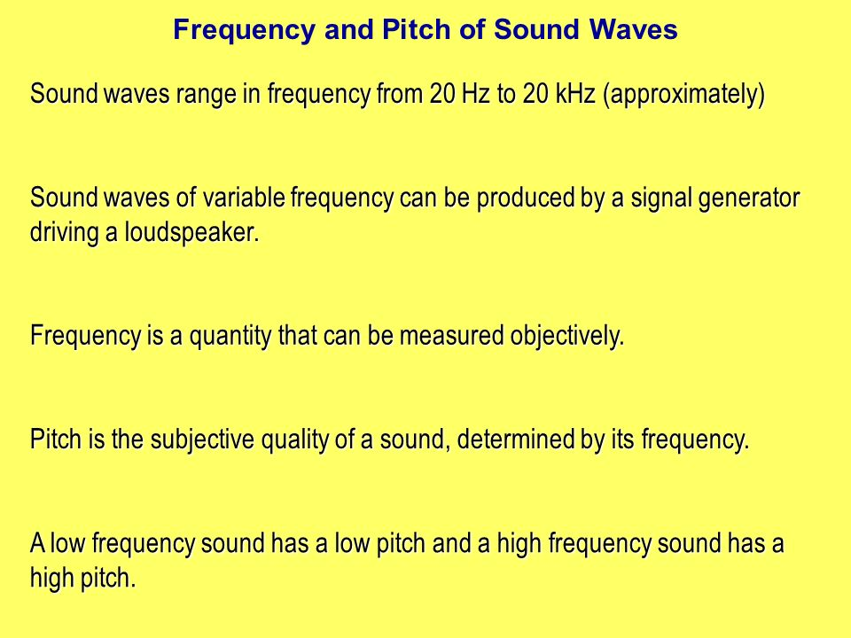 Frequency and volume of sound waves | College paper Sample