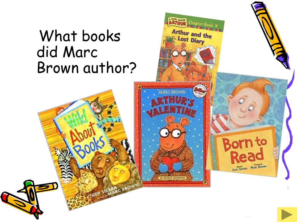 What books did Marc Brown author
