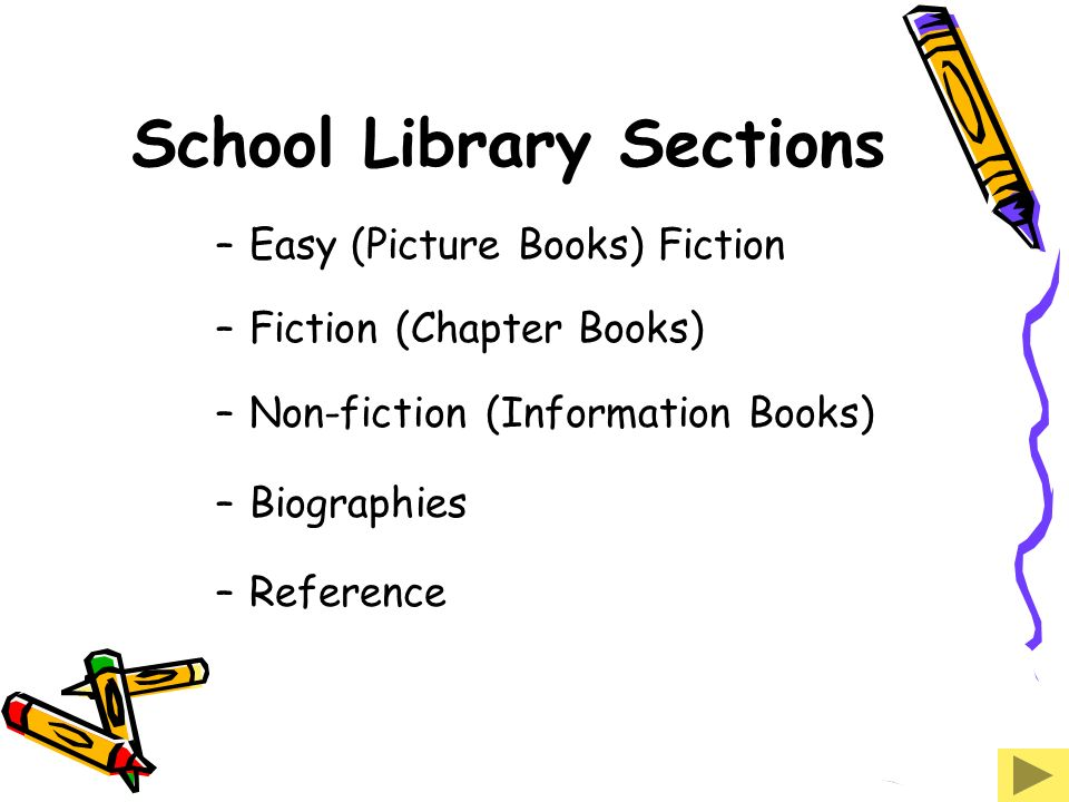 School Library Sections